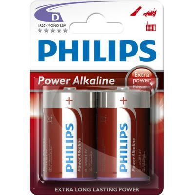Батарейка PHILIPS LR20 PHILIPS PowerLife P2B * 2 (LR20P2B/97)