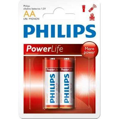 Батарейка PHILIPS LR06 PHILIPS PowerLife P2B * 2 (LR6P2B/97)