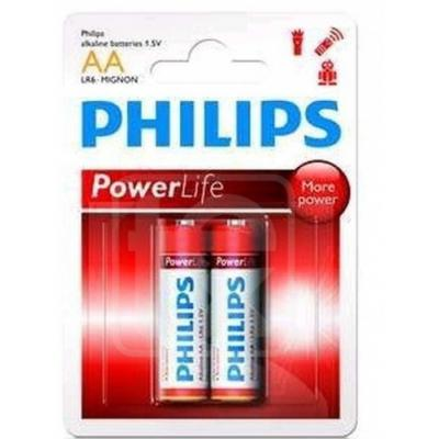 Батарейка PHILIPS LR06 PHILIPS PowerLife P2F * 2 (LR6P2F/97)