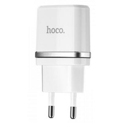 Зарядное устройство HOCO C11 1*USB, 1A, White + USB Cable iPhone 6 (60788)