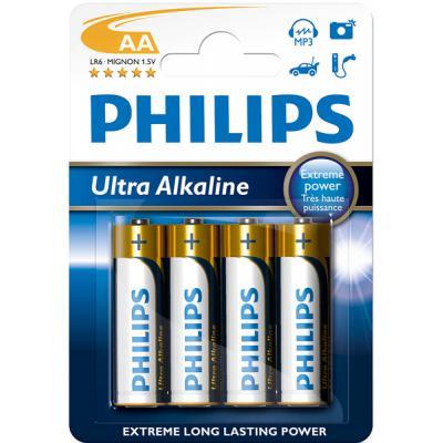 Батарейка PHILIPS LR06 PHILIPS Ultra Alkaline * 4 (LR6E4B/97)
