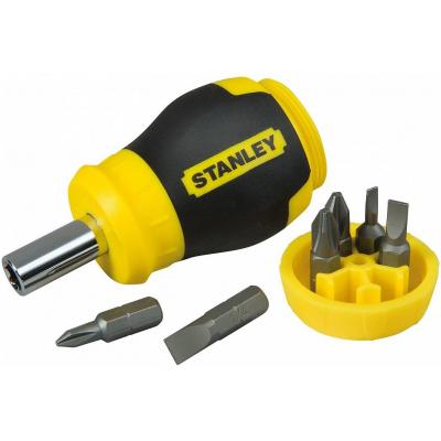 Отвертка Stanley Multibit Stubby с 6 сменными битами (0-66-357)