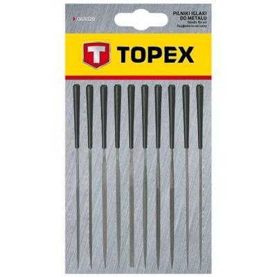 Набор надфилей Topex игольчатые по металлу, набор 10 шт. (06A020)