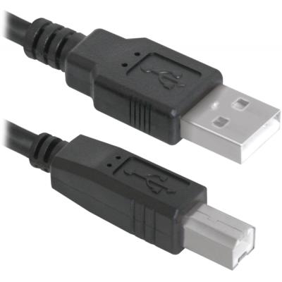 Кабель для принтера USB 2.0 AM/BM 1.8m Defender (83763def)