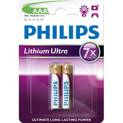 Батарейка PHILIPS Lithium Ultra FR03 * 2 (FR03LB2A/10)