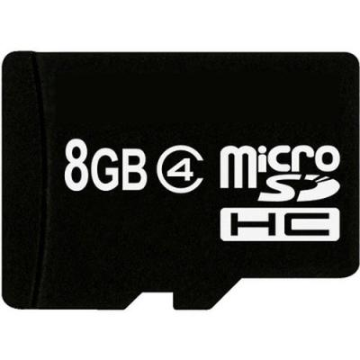 Карта памяти eXceleram 8Gb microSDHC class 4 (MSD0804)