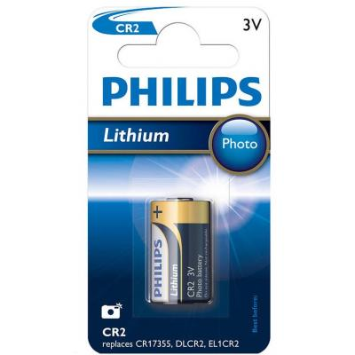 Батарейка PHILIPS CR2 Lithium Photo 3V (CR2/01B)