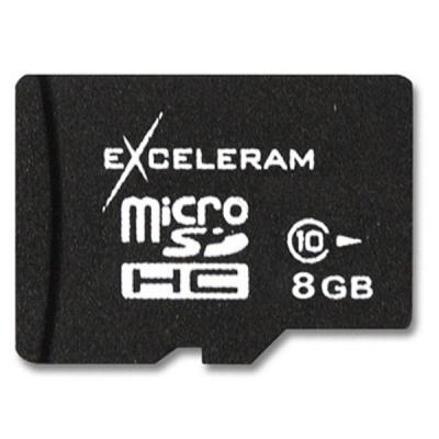 Карта памяти eXceleram 8Gb microSDHC class 10 (MSD0810)